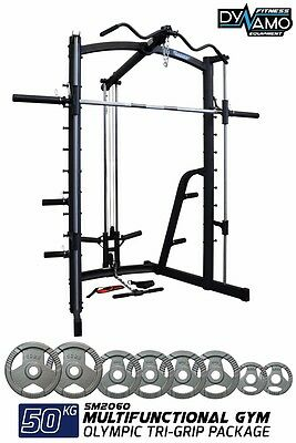 Home Gym Package / Smith Machine & Attachments With 50Kg Weight Plates For Gym