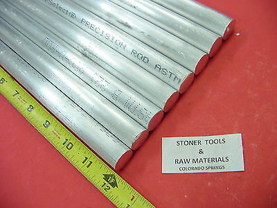 """8 pieces 3/4"""" ALUMINUM 6061 ROUND ROD 12"""" LONG T6511 .75"""" Solid Lathe Bar Stock"""
