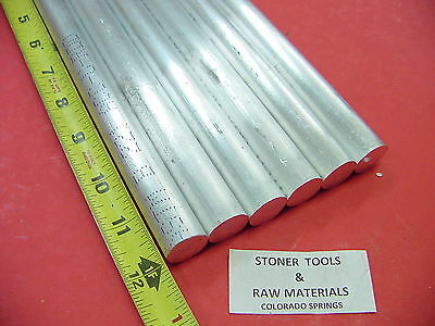 "6 Pieces 3/4"" ALUMINUM 6061 ROUND ROD 12"" long Solid T6511 New Lathe Bar Stock"