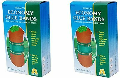 2 x Agralan Economy Insect Ant Moth Glue Bands 3.5m