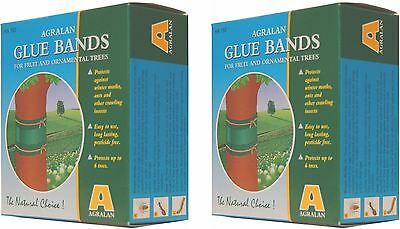 2 x Agralan Long Lasting Fruit Tree Insect Ant Moth Glue Bands 1.75m