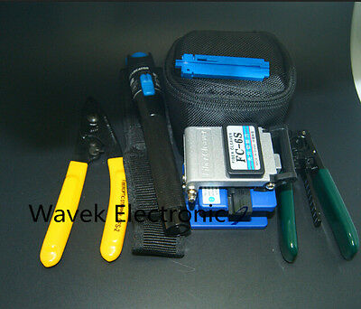 FTTH Splice Fiber Optic Tool Kits Fibre Stripper FC-6S Fiber Cleaver CFS-2 VFL