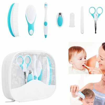 7x Baby Healthcare Grooming Kit Set Newborn Nail Clipper Comb Toothbrush NO BPA