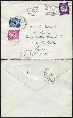 ITALY POSTAGE DUE from GB WILDING 3d...20L + 10L...1960