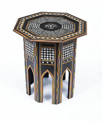 Antique Persian Inlaid Octagonal Occasional Table c.1900