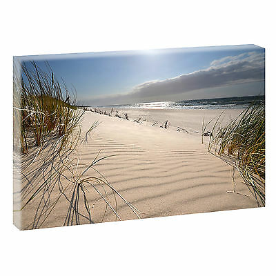 weg zum meer nordsee strand panorama format bild auf leinwand wandbild poster eur 24 90. Black Bedroom Furniture Sets. Home Design Ideas