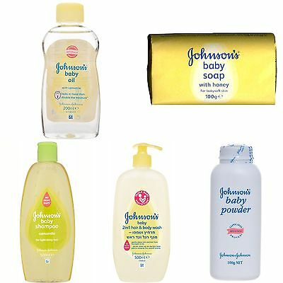 Johnson's Baby Oil + Soap + Powder + Shampoo + Body Wash All you need in 1 Pack