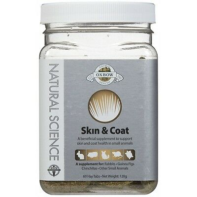OXBOW SMALL ANIMAL NATURAL SCIENCE SKIN & COAT SUPPORT 60 COUNT Free Shipping