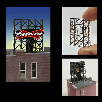 Budweiser Animated Rooftop Billboard N Z Scale Model Scenery RR Train