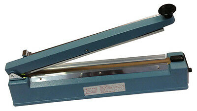 "New 16"" Impulse Poly Bag Sealer and Cutter Combo, Thermal Sealing Plastic Bags"