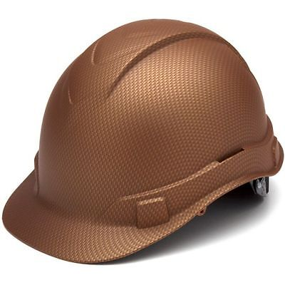 Pyramex Ridgeline Copper Graphite Pattern Hard Hat 4 Point Ratchet Suspension 23