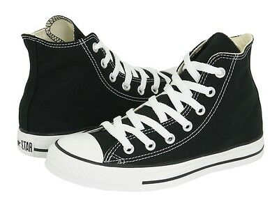 2066ad5acbd9 CONVERSE ALL STAR Chuck Taylor HI M9160 Black Canvas Shoes Medium (B ...