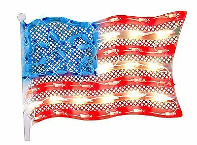 Impact Innovations Patriotic Lighted Window Decoration Grand Old Flag