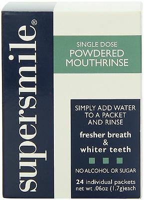 Supersmile Powdered Mouthrinse 24 Individual Packers .06 Oz Each