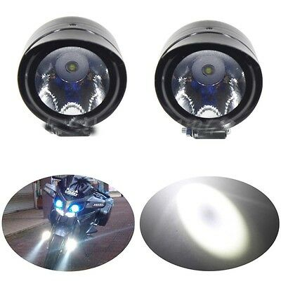 2x Black Motorcycle Bike LED Driving Fog Head Spot Light Lamp Headlight NEW