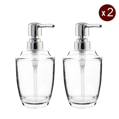 2X Soap Lotion Dispenser Pump Toilet Bottle Kitchen Bathroom Countertop