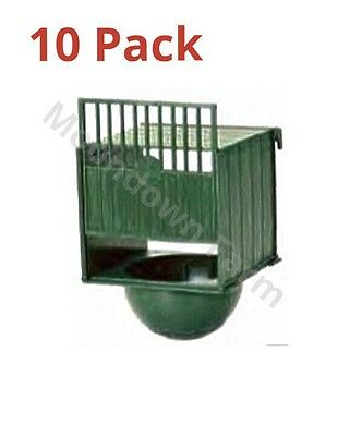 10 x PLASTIC NEST PAN HANGS ON OUTSIDE OF CAGE FOR CANARIES & FINCHES BUDGIES et