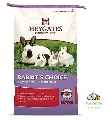 20kg Heygates Country Feeds Rabbit's Choice Pellets Rabbit Guinea Pig Food