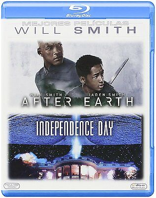 After Earth + Independence Day Blu Ray Pack Will Smith 2 Nuevo ( Sin Abrir )
