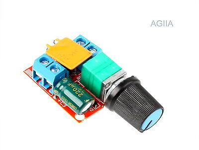 Mini DC 5A Motor PWM Speed Controller 3V-35V Speed Control Switch LED Dimmer