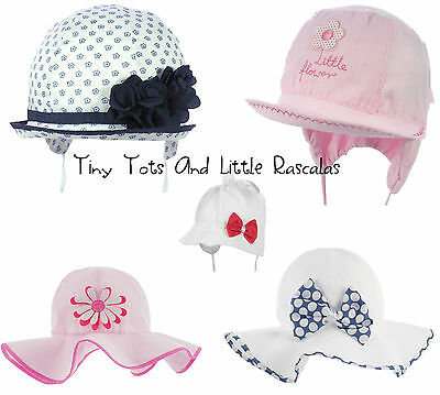 Toddler Girls Summer Hat Bonnet Holiday Beach Cap Occasion Size 0 mths-6 years