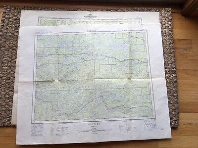 CANADIAN GOVERNMENT TOPOGRAPHIC MAP 1955 and 1940 Quebec and English River! Cool