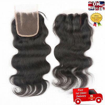 3 Way Hair Parting Lace Top Closure 6A Brazilian Remy Human Hair Body Wave 4x4""