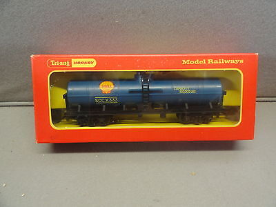 Triang Hornby R117 Transcontinental Shell Oil Tank Bogie Wagon-Boxed
