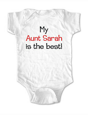My Aunt or Uncle is the best (Custom Name) one piece bodysuit, toddler, youth