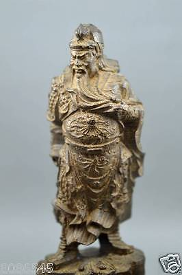 100% Chinese agalloch eaglewood wood hand-carved  of  statue 关公 guangong
