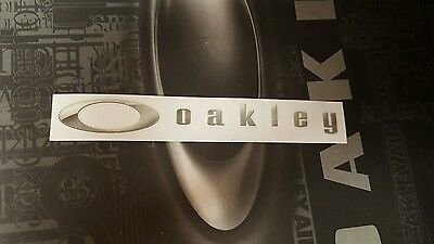 Oakley Decal Sticker Silver (X Metal Fuel Cell Penny Gascan Romeo Juliet Medusa)