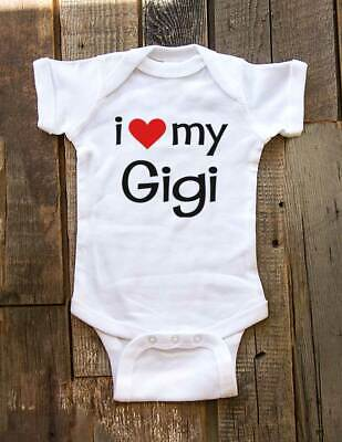 i love my Gigi - cute funny baby one piece bodysuit, toddler, youth shirt