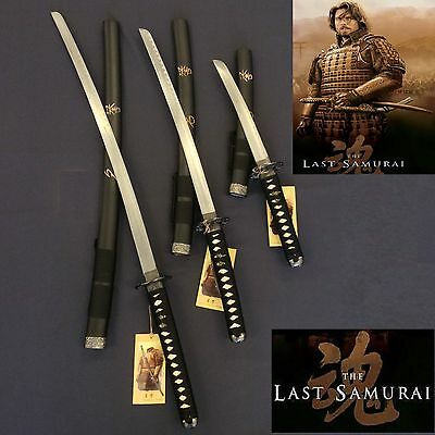 New Black Japanese Last Samurai Three Sword Set with Stand - Pre Order