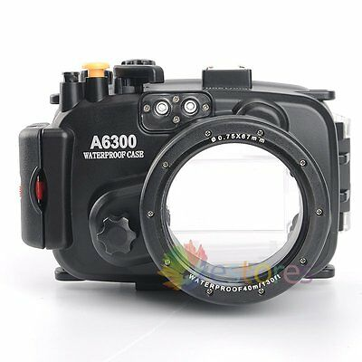 Meikon 40m 130ft Waterproof Diving Case Cover For Sony A6300 16-50mm Lens Camera