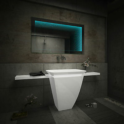 beau miroir salle de bain lumineux led 3d effet sur mesure. Black Bedroom Furniture Sets. Home Design Ideas