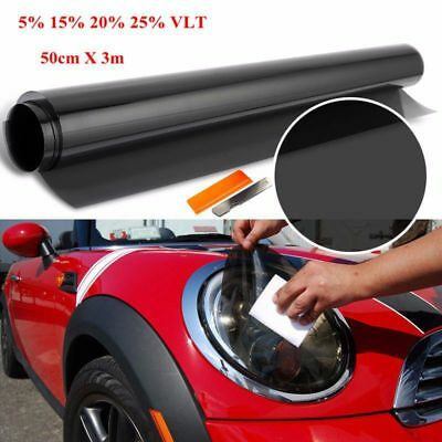50cm X 3m Professional Roll Car Van Window Tint Film Tinting Dark Black Smoke 5%