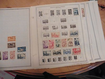 D55 French Morocco 1947-49 Morocco Maroc 1956-89 stamps Minkus 24 pages hinged