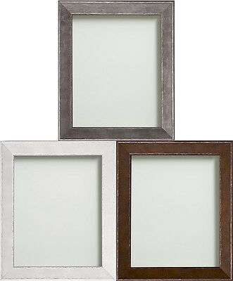 Beaumont Range Distressed Brown Grey or White Wooden Picture Photo Frame