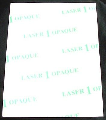 25p 8.5x11 Laser 1 Opaque Transfer Paper for dark fabrics, heat press, One