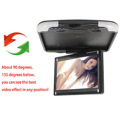 "Car Flip Down Roof Overhead LCD TFT Monitor 13"" HD Digital Wide Screen Monitor"
