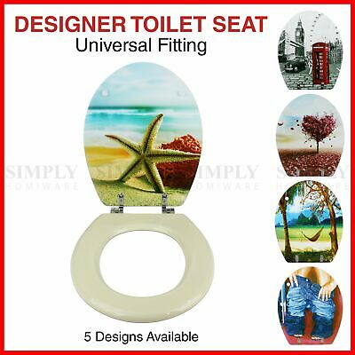 Toilet Seat and Cover Lid Designer Hard Bathroom Covers WC Bath Seat Lids