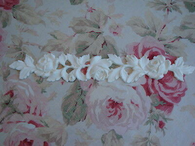 Antique Roses & Leaves Garland Molding Trim Furniture Applique Architectural 14""