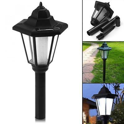 Outdoor Solar Power LED Path Way Wall Landscape Mount Garden Fence Lamp Lights