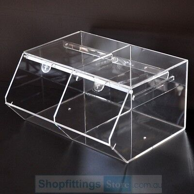 Acrylic Candy Storage Box 38x30x20cm Clear Plastic
