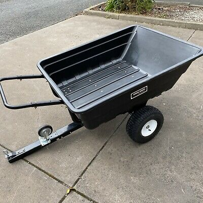 Ride on lawn mower Quad poly Tipper Trailer Dump Cart wheelbarrow 10cbf  300KG