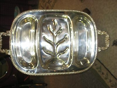 Old English Silverplate Meat Dish.