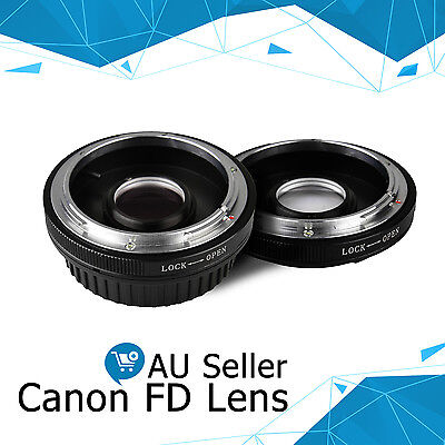 Mount Adapter Ring FOR canon fd Lens to eos ef with Glass Focus Infinity AU
