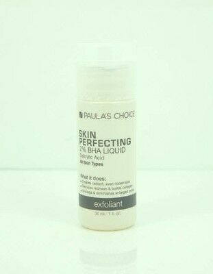Paula's Choice Skin Perfecting 2% BHA Liquid Exfoliant 1 oz Travel Size New Seal