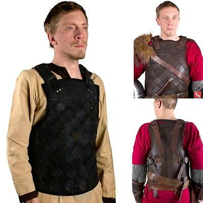 Ready For Battle Leather Viking Armour. Black Or Brown Costume LARP Re-enactment