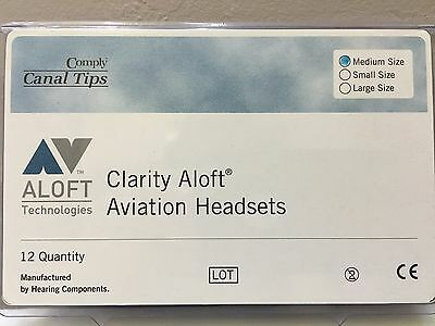NEW GENUINE CLARITY ALOFT COMPLY Medium Canal Tips 6 prs Free ship tracking #